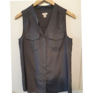 J. Crew tank top size 4 in charcoal gray
